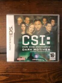 CSI Crime Scene Investigation: Dark Motives (Nintendo DS). Interactive game