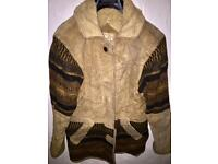 Genuine leather vintage jacket large