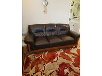 Three seater really leather seattee