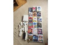 Wii, 18games, 5 controllers for sale.
