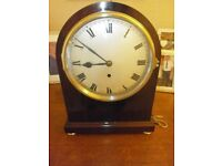 ANTIQUE MANTLE CLOCK WITH FUSEE MOVEMENT