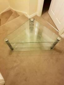 Glass 3 tier T.V corner stand