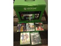 Xbox one 500 GB + 5 games