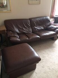 Sofa, Chairs and a foot stool
