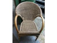 Heavy rattan lounge/ conservatory chair