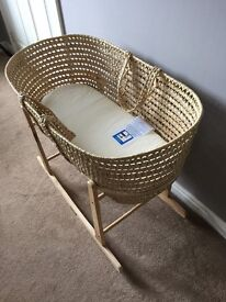 Clare de lune Moses basket and stand
