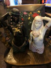 Ebony and Ivory figures