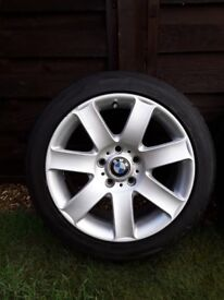 5 x 17 inch BMW wheels, complete with Toyo Proxis tyres