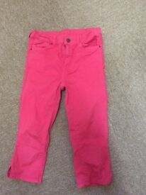 GIRLS TROUSERS JOULES AND H & M AGE 11/12 AND 12/13