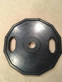 Pair of 20kg Olympic plates
