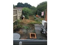 One bedroom ground floor, own garden,