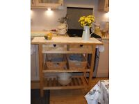 Ikea wooden Trolley / Console Table / Butcher's Block