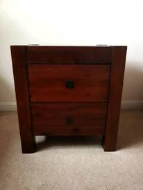 Mahogany Solid Wood Bedside Table *Upcycling Project*