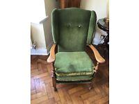 Original oak grandmother chair