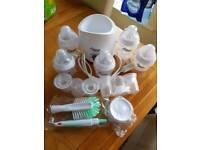 Tommee tippee set bottle warmer bottles etc