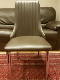 6 Chocolate Brown Dining Chairs for sale