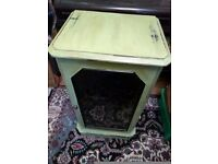 Shabby chic painted pot cupboard, cabinet