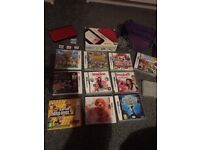 Red 3DS XL with charger , 14 games and bag.