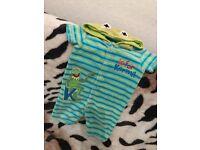 Kermit Hooded Romper 9-12 Months