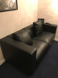Two seater leather couch inc 2 pillows £150 ono