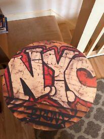 Graffiti NYC side table