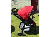 Graco travel system. Car seat, pushchair, carry cot, foot muff and rain cover