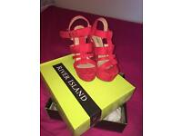 River Island red dress sandals
