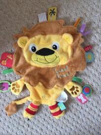 Vital Innovations Label-Label LL-FR1207 Cuddly Animal Toy Friends Lion Orange