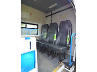 3 crew cab seats taken out of Transit 350, support underbody plates to suit