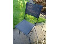 Metal garden chairs,black,collapsible