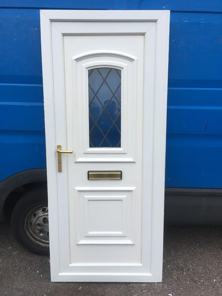 used upvc white front door in whetstone leicestershire. Black Bedroom Furniture Sets. Home Design Ideas