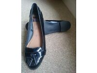 Black flat loafers, H! By Henry Holland size 8 worn once