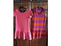 2 x girl dresses aged 8 - 9