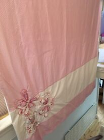 Rug,curtains, lamps, pictures and hobby horse from girls bedroom. £30