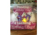 Flashing 30th Birthday tiara