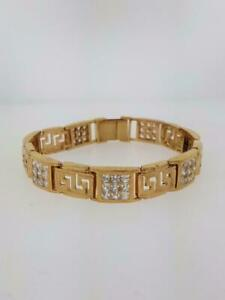 Versace bracelet in 10kt yellow gold set with AAA cz. Greater Montréal Preview