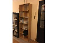 Large Wooden/Glass Shelves (2 small doors)
