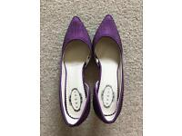 Debut- Purple Studded Heels (Size 6)
