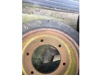 For sale fork lift front and back tyre £50