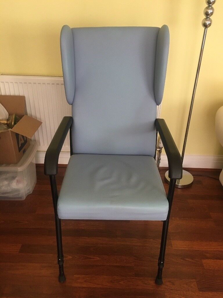 BARGAIN-ORTHOPEDIC CHAIR,BLUE,HARDLY USED,VERY GOOD CONDITION