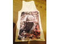 Women's All Saints *Searcher* Vest Top T-Shirt, UK 14