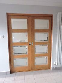 Oak Shaker Glazed Internal Doors