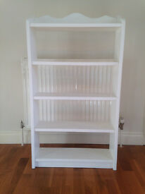 Solid wood white free standing Bookshelves