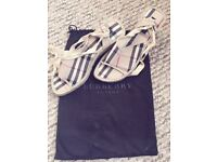 Burberry Ladies Sandals Nova Check Collection Brand New Size 38