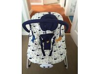 Mothercare musical and vibrating baby bouncer chair
