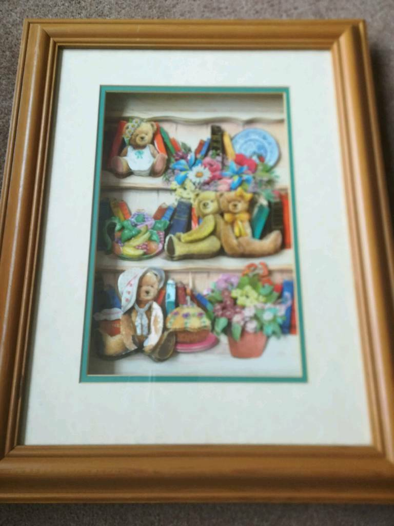 Decoupage nursery picture in pine frame   in Wigston, Leicestershire ...
