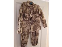 6-8 years British Desert Storm trousers and jacket with attached Utility vest. Excellent condition.