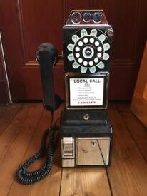 RETRO 1950'S DINER STYLE PAY PHONE
