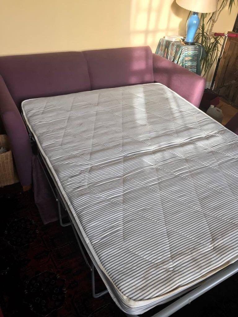 Handmade Sofa bed. Linen Upholstered.