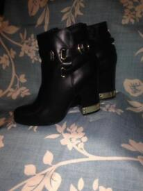 Size 3 Ladies Selfridges Leather Boots As New